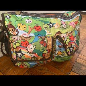 LESPORTSAC TOKIDOKI Vntg Weekender Bag GUC RARE